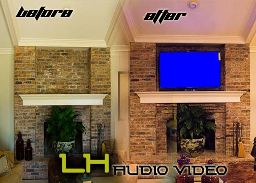 Marvelous Brick Fireplace Tv Mount Lh Audio Video Interior Design Ideas Ghosoteloinfo